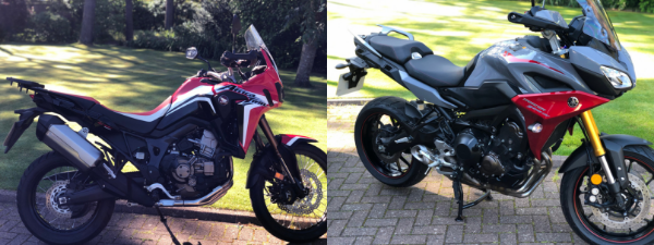 Honda Africa Twin and Yamaha Tracer 900GT
