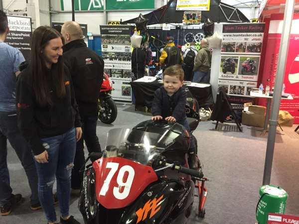 Sammi Tasker at 2015 Scottish Motorcycle Show